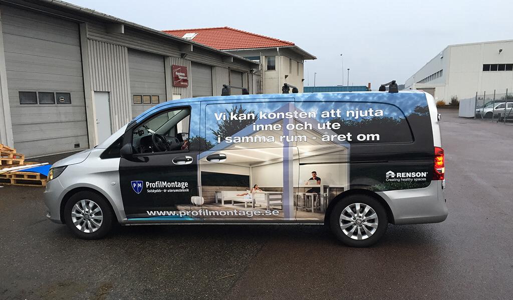 Car wrap i Kungsbacka