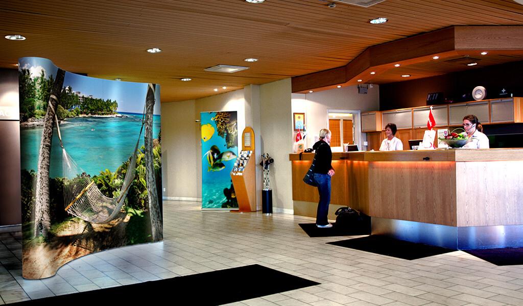 Displaysystem lobby