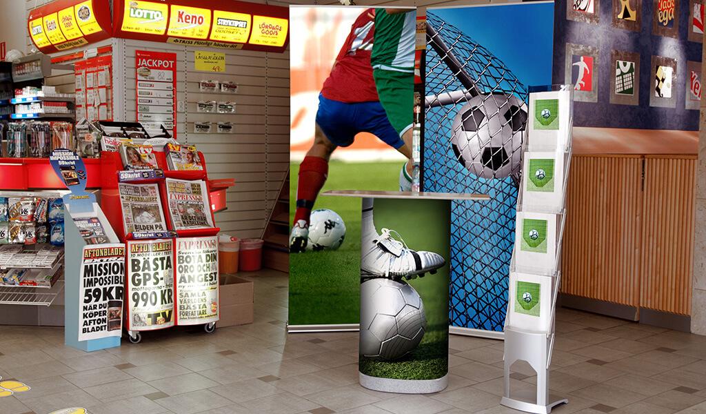 Fotbolls displaysystem