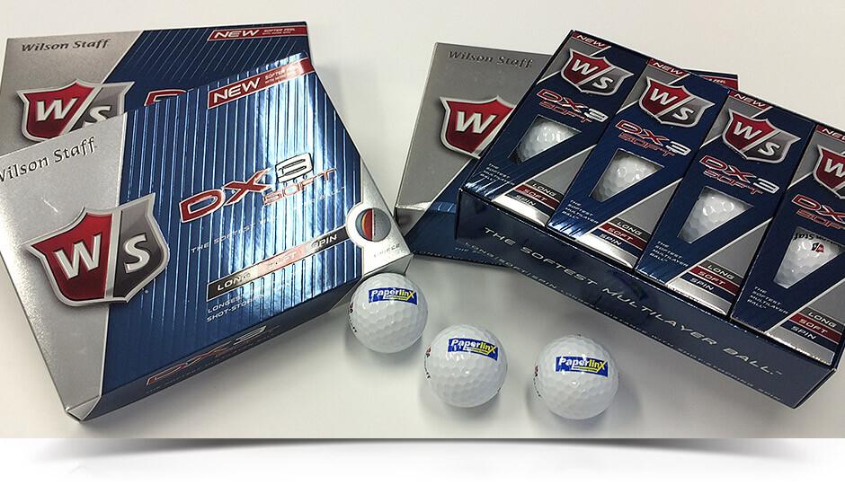 Golfbollar med logotyp